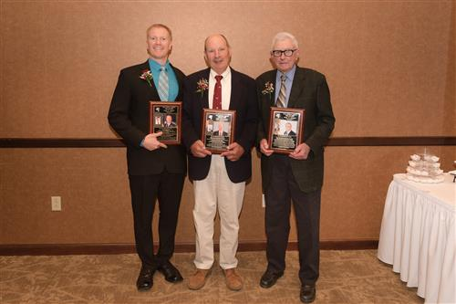 Hall of Fame Inductees:  Paul Birch, Don Willmott and Ken Post accepting for Paul Joslin